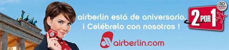 30 aniversario air berlin AirBerlin cumple 30 años y lo celebra con ofertas de vuelos 2x1