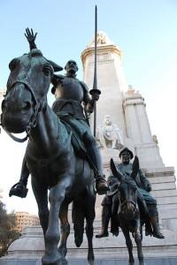 401px Monumento a Cervantes Madrid 10m 200x300 Don Quijote y Sancho Panza en Madrid