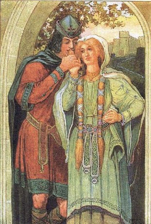 405px Tristan and Isolde by Louis Rhead 311x460 La Leyenda de Tristán e Isolda