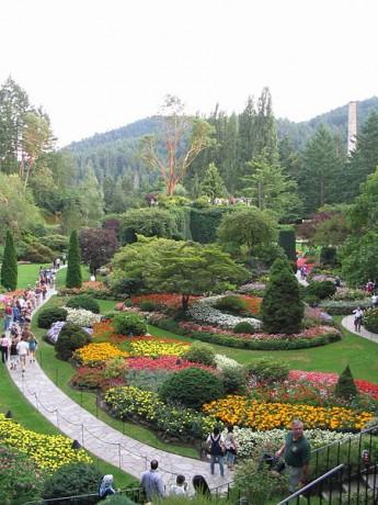 450px Sunken Garden 345x460 Jardines Butchart, inspiración para los sentidos