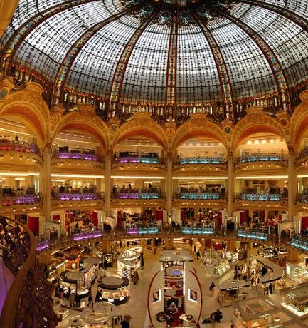 565px Paris Lafayette inside 433x460 Las parisinas Galerías Lafayette