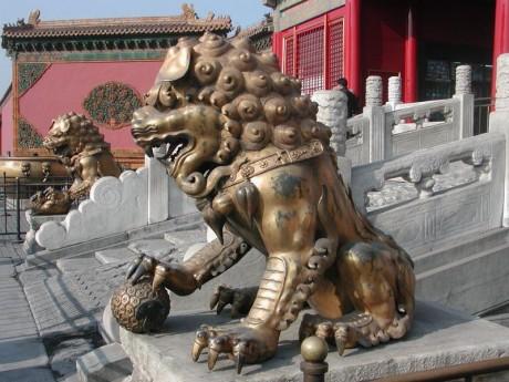 800px Forbidden City Imperial Guardian Lions 460x345 Los Perros de Fu, simbología oriental