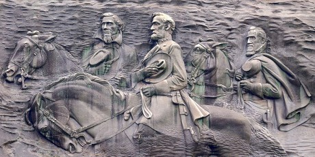 800px Stone Mountain Carving 2 460x229 El enorme Confederate Memorial Carving