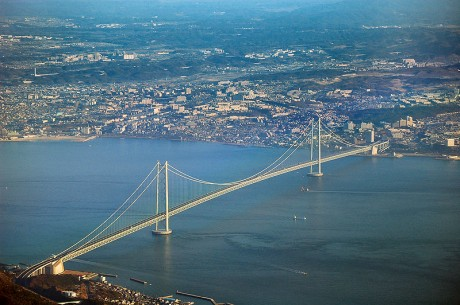 Akashi Bridge 460x305 Unos puentes de récord