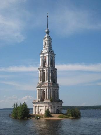 Campanario del Lago Kalyazin 345x460 El campanario sumergido del Lago Kalyazin