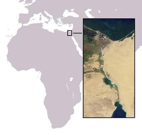 Canal de Suez 460x436 El canal de Suez, el mejor atajo de la historia del comercio