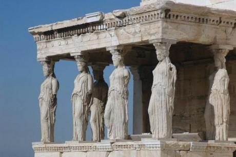 Cariátides1 460x306 La mitológica Atenas