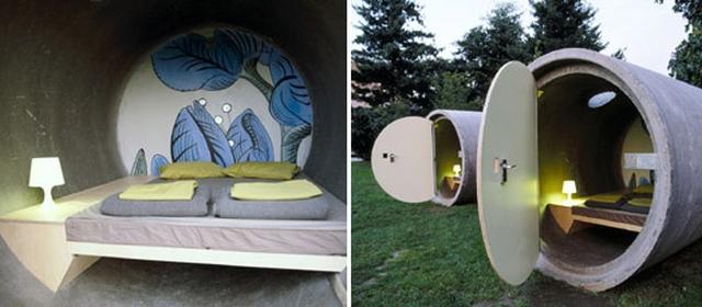 Das Parkhotel Dormirías en un tubo de desagüe ?