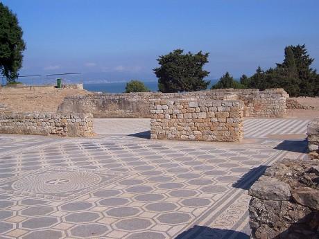 Empuries mosaico ciudad romana 460x345 Emporion, el antiguo puerto de la Costa Brava