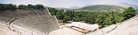 Epidauro teatro 460x118 Epidauro, el santuario de la medicina