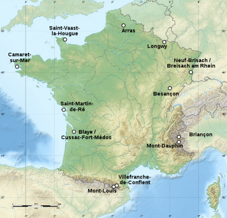 Fortalezas de Vauban 460x442 Las fortificaciones de Vauban