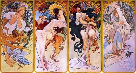 Four Seasons by Alfons Mucha 460x248 Museo Alfons Mucha, el mayor exponente del Art Noveau