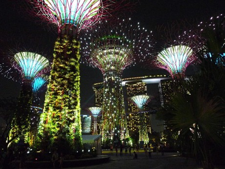 Gardens by the bay 460x345 Gardens by the Bay, un enorme y espectacular jardín en Singapur