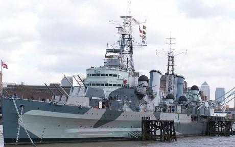 HMS Belfast 460x289 El Museo Imperial de la Guerra