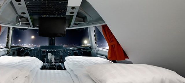 Hotel Arlanda Jumbo Stay Dormir en un avión sin turbulencias