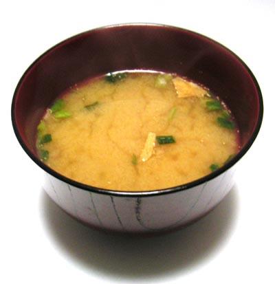 Instant miso soup La sopa de miso, típica de Japón