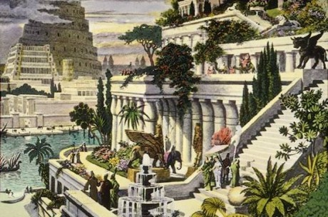 Jardines colgantes de Babilonia 460x304 Un vergel maravilloso en Mesopotamia: Los jardines colgantes de Babilonia