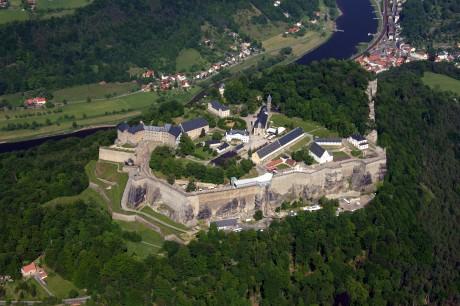 Königstein 460x306 La fortaleza de Königstein, la roca del rey