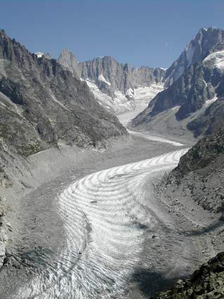 Mer de glace Los glaciares de Chamonix