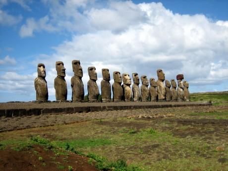 Moais AhuTongariki 460x345 Los moais de la Isla de Pascua