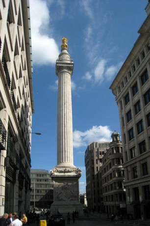 Monumento al Gran Incendio de Londres 306x460 El Monumento al Gran Incendio de Londres