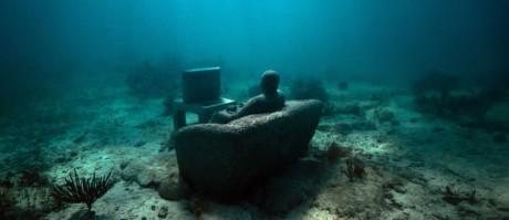 Museo submarino de Cancún 460x199 Un museo submarino en Cancún