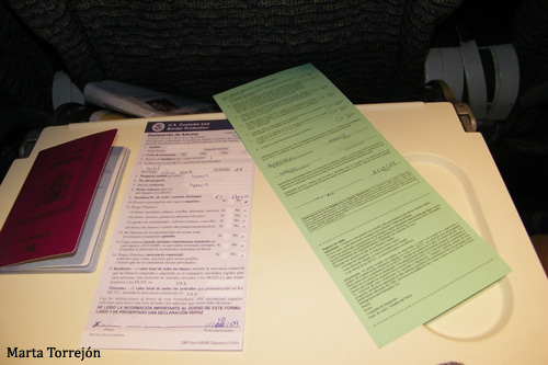 NY documentos Formulario para entrar en Estados Unidos