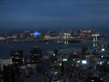 Odaiba from Tokyo Tower Night 460x345 Odaiba, el puerto futurista de Tokio