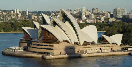 Opera de Sydney 460x235 La radiante Ópera de Sidney