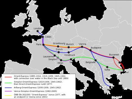 Orient Express Historic Routes 460x345 Orient Express: pionero y leyenda de los trenes turísticos