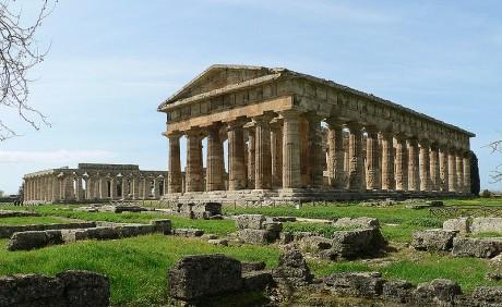 Paestum 460x282 Las ruinas del Parque Nacional del Cilento y Valle de Diano