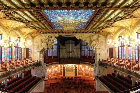 Palau de la música catalana 460x305 El Palau de la Música, el templo de la música de Barcelona