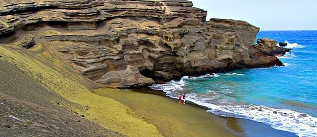 Papakolea beach La playa de las arenas verdes
