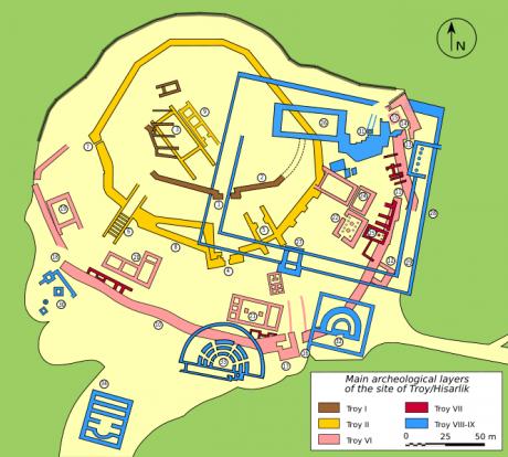 Plano de Troya 460x414 La legendaria Troya