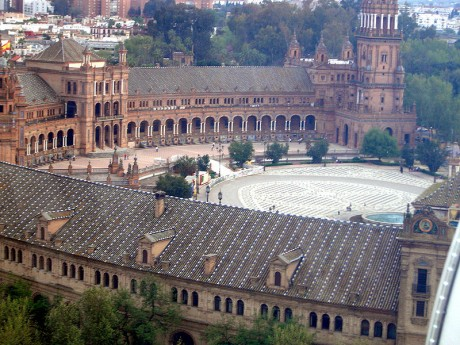 Plaza España 460x345 La Plaza España, tesoro sevillano