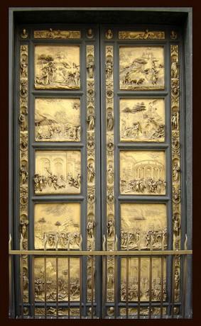 Puerta del Paraíso Baptisterio de Florencia 283x460 Florencia recupera la Puerta del Paraíso