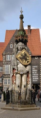 Rolando 163x460 La estatua de Rolando, presidiendo Bremen