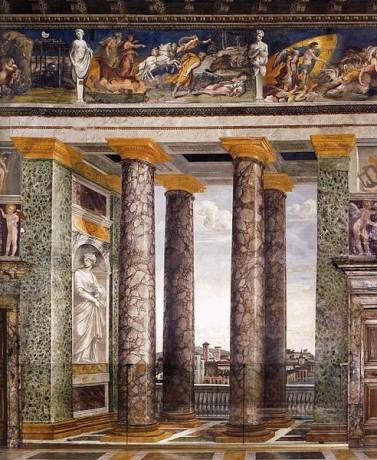 Salle delle Prospettive Villa Farnesina 377x460 La belleza interior de Villa Farnesina