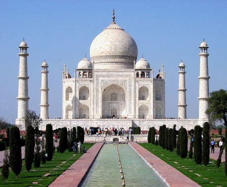 Taj Mahal 460x379 Taj Mahal, una inmensa muestra de amor