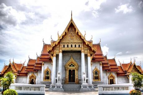 Wat Benchamabophit1 460x306 Wat Benchamabophit, el Templo de Mármol de Bangkok
