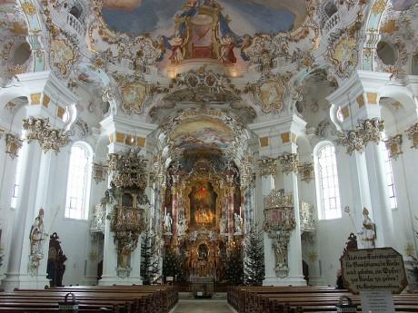 Wieskirche 460x345 La iglesia de peregrinación de Wies, una escondida joya del arte rococó