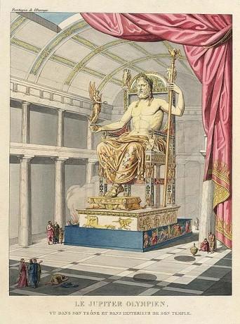 Zeus de Olimpia 342x460 El Zeus de Olimpia, reinando sobre las maravillas de la Antigüedad