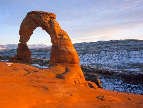 arco 460x348 El Arco Delicado, con vistas a la sierra de La Sal
