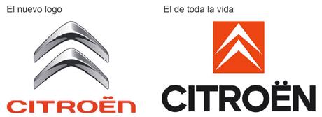 compacion logos citroen Citroën cambia la imagen de su marca.