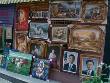 cuadros 460x346 Dafen, un pueblo de pintores
