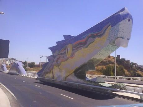dragón 460x345 El Puente del Dragón, custodiando el castillo de Alcalá de Guadaira