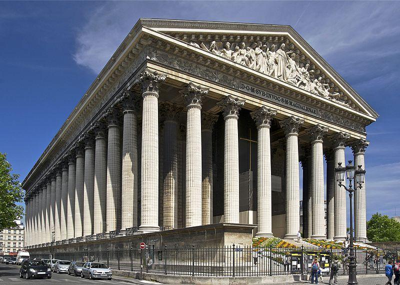 fachada1 Iglesia de la Madeleine, con fachada neoclásica