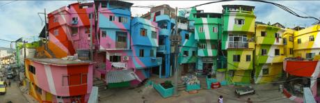 favelas2 460x148 Pintar de cien colores las favelas