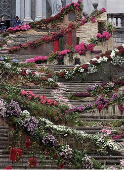 flores2 Girona, una ciudad envuelta de flores
