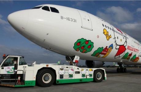 hellokitty 460x301 ¿Te subirías en un avión de la Hello Kitty Jet Airlines?